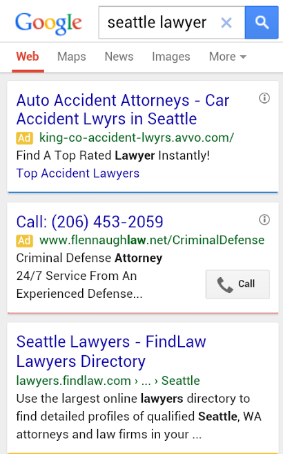 call-only Google ad
